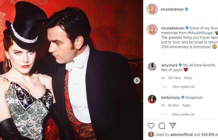 نيكول كيدمان تستعيد ذكريات فيلم Moulin Rouge فى الذكرى الـ20 لصدوره.. صور
