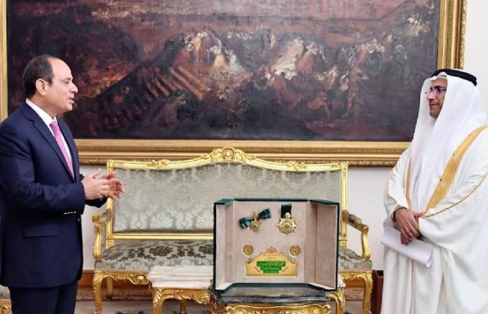 البرلمان العربى يمنح السيسي «وسام القائد» لجهوده فى خدمة قضايا الأمة