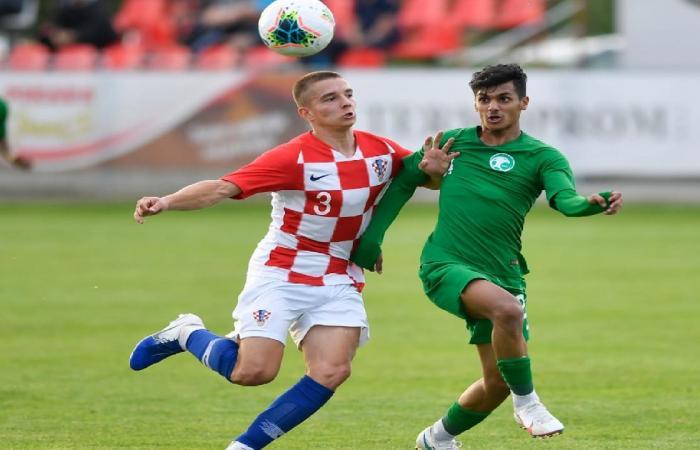 الأخضر تحت 20 عامًا يخسر لقاء كرواتيا الودي