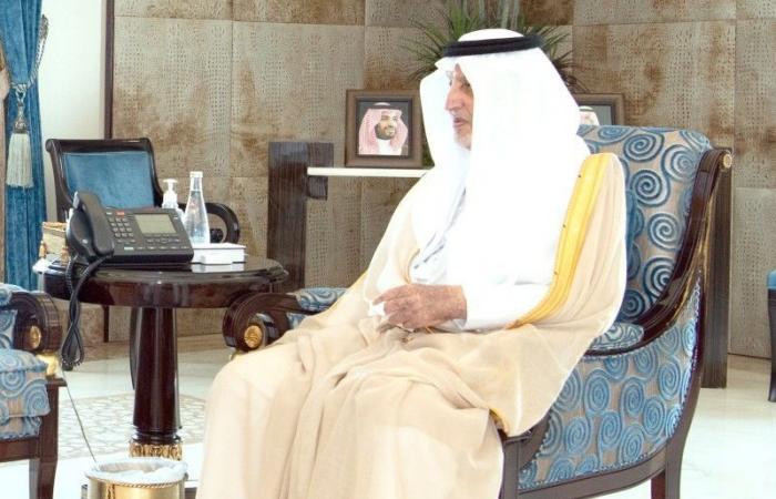 الفيصل يستقبل المعينَين حديثاً.. مديرَي فرع الخارجية والتحريات الإدارية بالمنطقة
