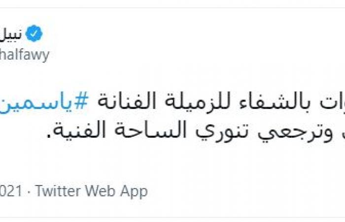 السقا والقبطان يدعمان ياسمين عبد العزيز: دعواتكم لعشرة العمر الطيبة الجدعة