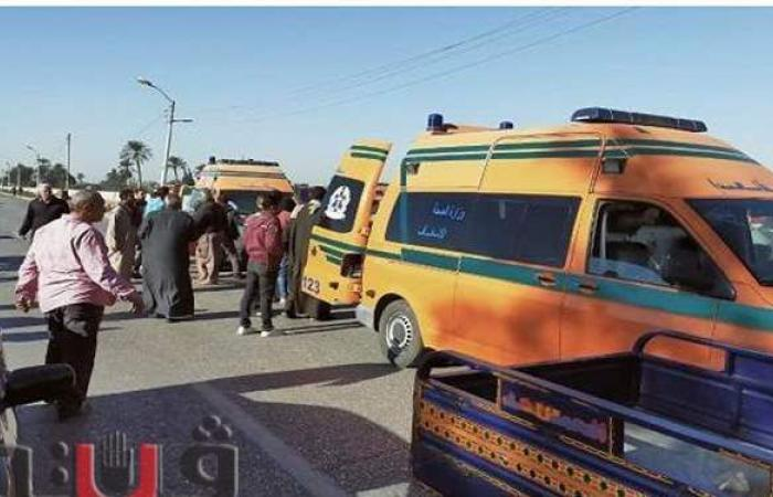 إصابة 6 أشخاص في حادث مروري بالمنيا