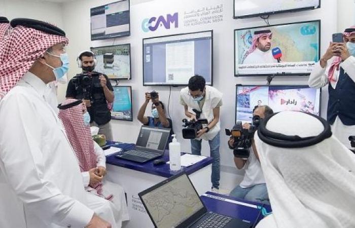 ماجد القصبي يتفقد المراكز الإعلامية المشاركة في تغطية موسم الحج