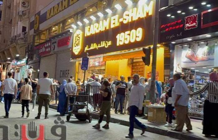 توافد المواطنين على وسط القاهرة ثالث أيام عيد الأضحى  فيديو