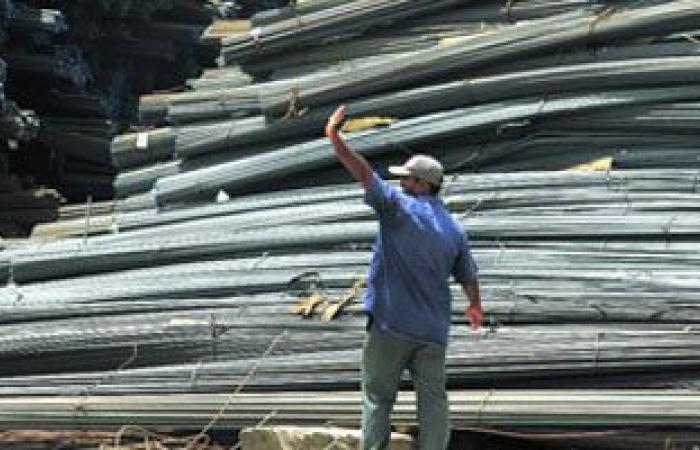 سعر الحديد اليوم 14200- 14600 جنيها للطن تسليم مصنع