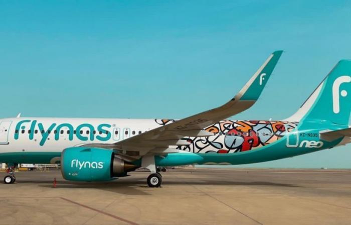 طيران ناس يتسلم طائرته الثانية من طراز A320neo بهوية عام الخط العربي