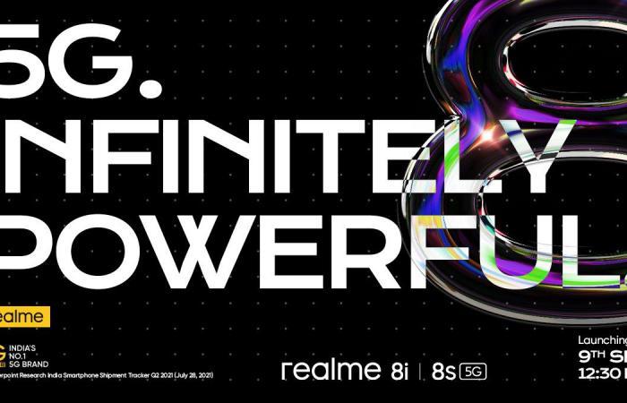 Realme تستعد للإعلان عن Realme 8s 5G و8i في 9 من سبتمبر