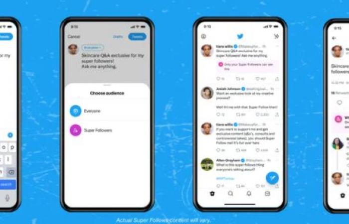 Twitter تبدأ في دفع ميزة Super Follows على منصة iOS