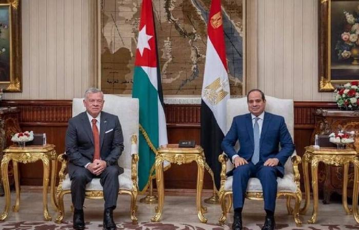 مصر والأردن يؤكدان تكثيف الجهود لحلحلة عملية السلام في الشرق الأوسط
