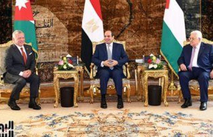 مستشار رئيس فلسطين: القمة الثلاثية اليوم جزء من الحراك الدولى لدفع عملية السلام