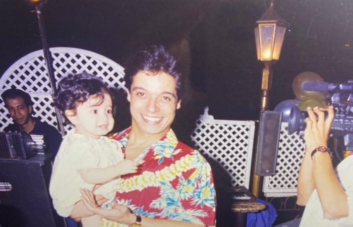 """مريم عامر منيب في ذكري ميلاد والدها: """"عيد ميلاد سعيد لملك السعادة وملاكى """""""