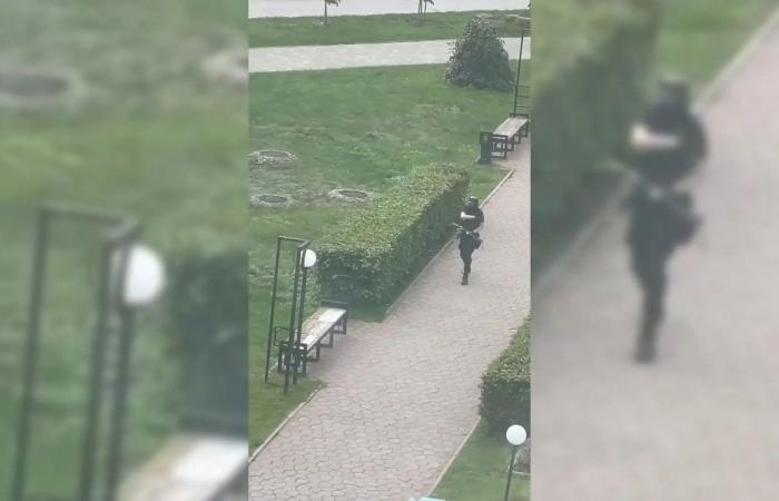 صورتان توثقان إصابة طالب عربي في حادث إطلاق النار بالجامعة الروسية