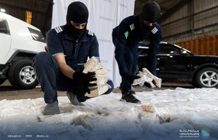 ضبط 12 مليون حبة كبتاجون مُخبأة في إرسالية «كاكاو» بميناء جدة الإسلامي
