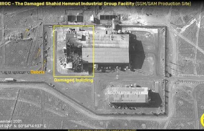 انفجار وتضرر قاعدة صواريخ سرية إيرانية