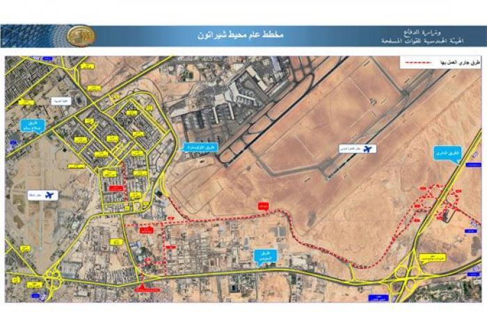 الرئيس السيسى يتفقد توسعة الدائرى والمحاور والطرق الجديدة بمنطقة مطار القاهرة