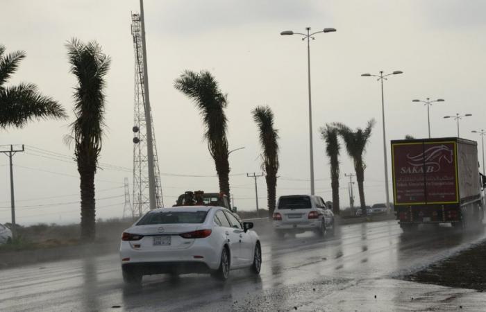 «الأرصاد» توجه تنبيهًا بأمطار رعدية ورياح على 4 مناطق