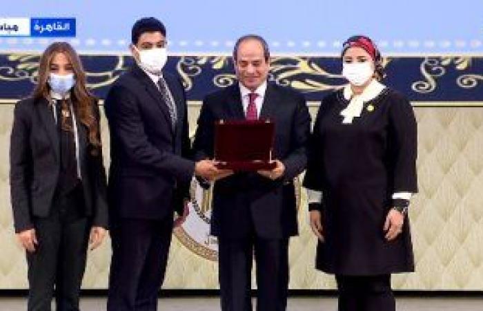 الرئيس السيسى يشهد تكريم شهداء الواجب من رجال القضاء