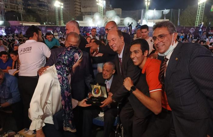 سيف عيسى يشكر مجلس إدارة الصيد لتكريمه بعد التتويج ببرونزية أولمبياد طوكيو