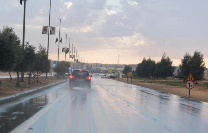 أمطار رعدية وسماء غائمة ورياح نشطة على 6 مناطق