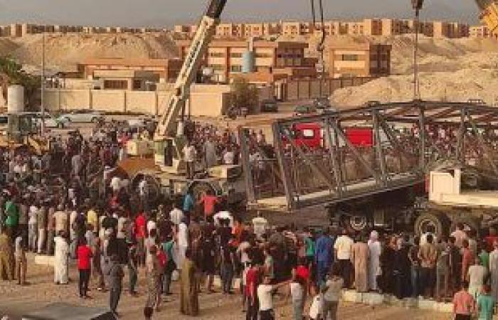 مصرع سائق وإصابة آخر فى انهيار كوبرى مشاة بجنوب سيناء بعد مرور حفار أسفله