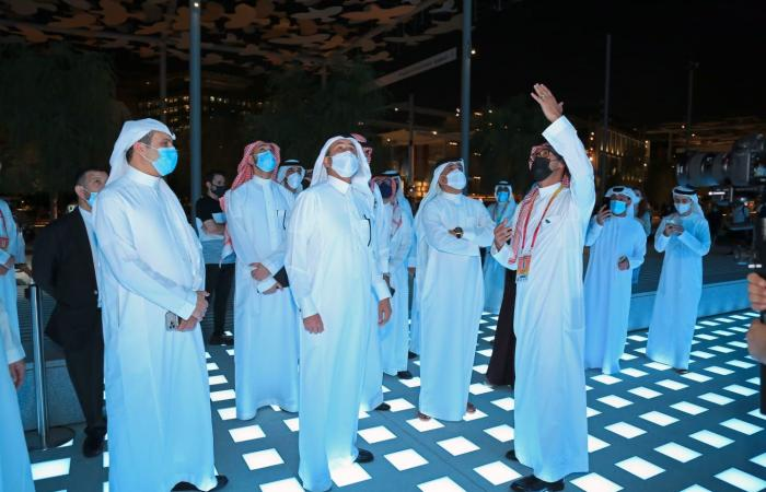 الجاسر في جناح السعودية بـ إكسبو دبي: أبهرني التجسيد الإبداعي